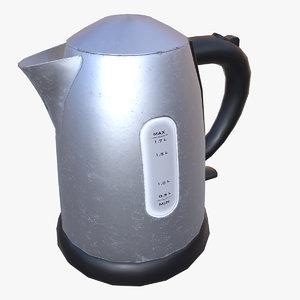 3D electric kettle ready pbr model