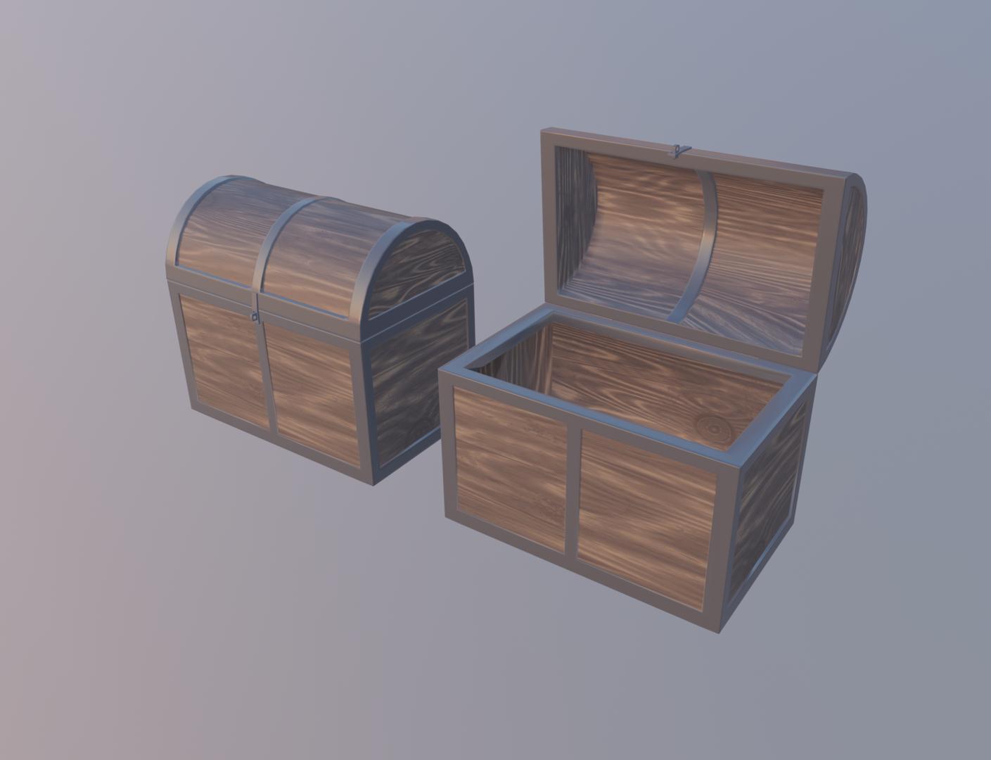 3D model wood metal
