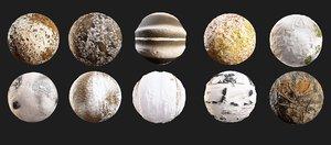 Muddy snow ground 10 PBR seamless texture