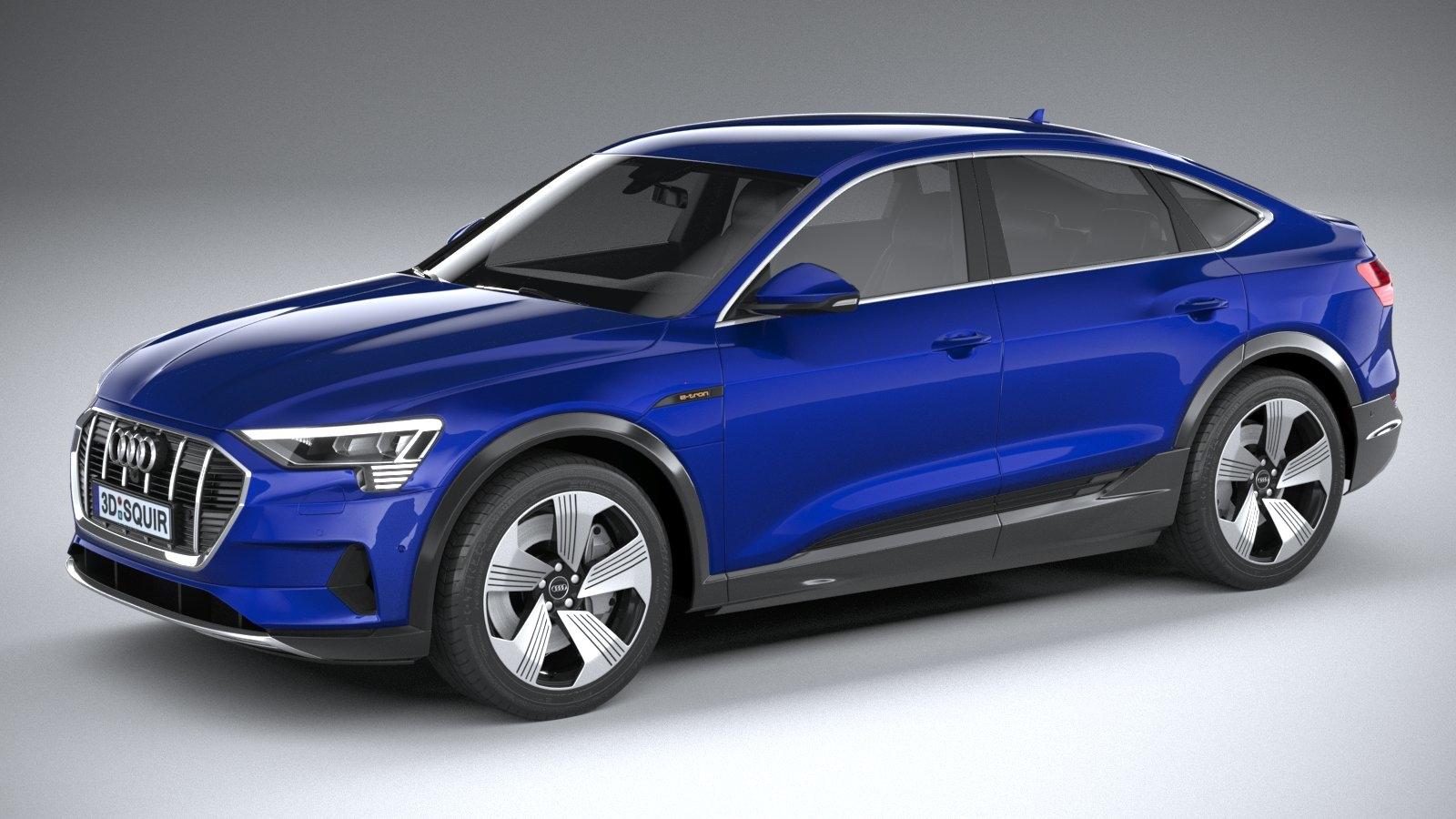 3D audi e-tron sportback model