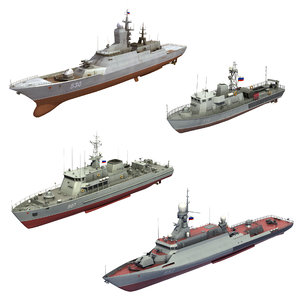 3D light russian naval forces model