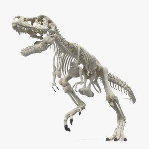 3D tyrannosaurus rex skeleton rigged