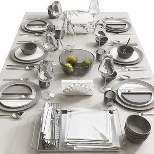 table setting 8 3D model