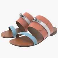 hermes avenue sandal 3D model