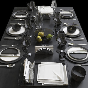 3D table setting 9