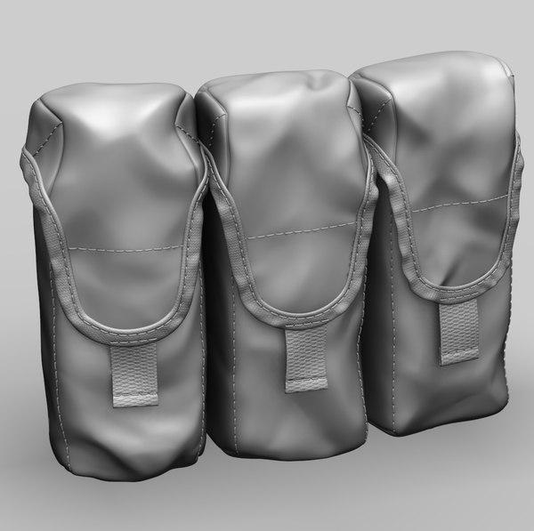 3D model ak magazine pouch