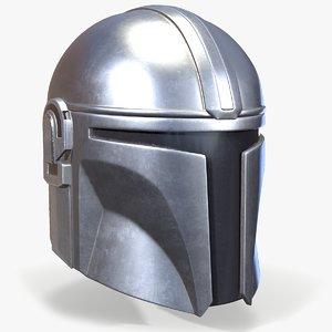 3D model ready mandalorian helmet