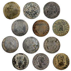 old ancient coin 3D model
