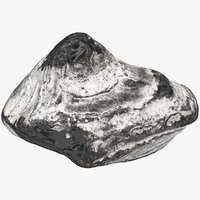 3D scanned flint stone model