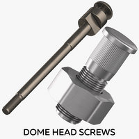 3D dome head screws model
