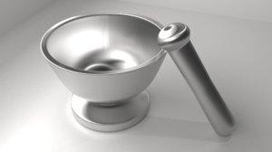 3D metal mortar pestle 5 model