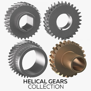 3D helical gears