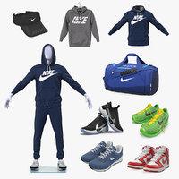 nike sport clothes 3D