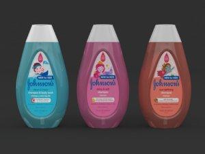 johnsons kid shampoo 3D model