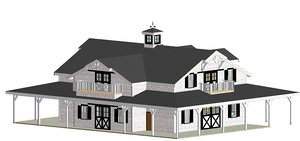 equestrian house model