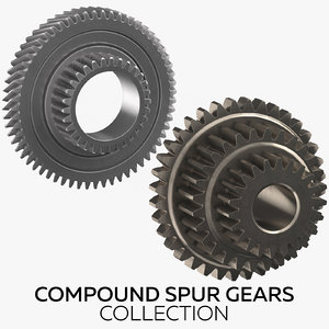 compound spur gears 3D model