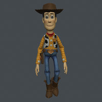 3D model rigged woody