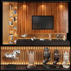 3D model tv wall units set