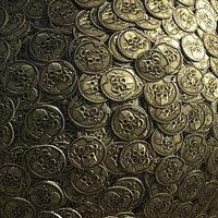 3D model realistic pile coins ver