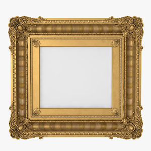 3D baroque picture frame l1