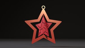 3D model christmas toy star