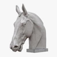 3D horse head sculpture model