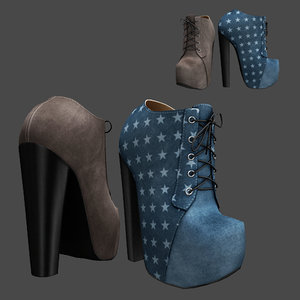 boots ankle 3D model
