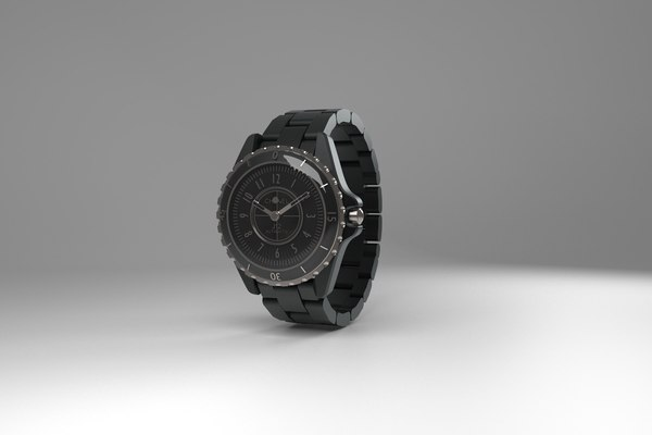 3D iconic chanel j12 watch model