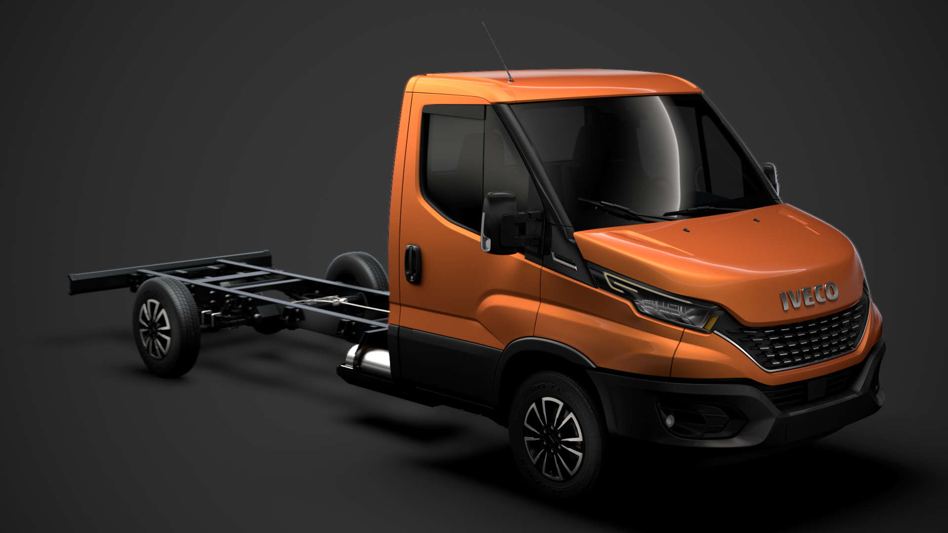 3D model iveco daily single cab