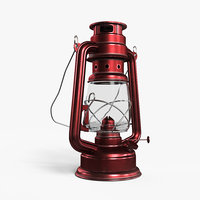 Oil Lamp Red