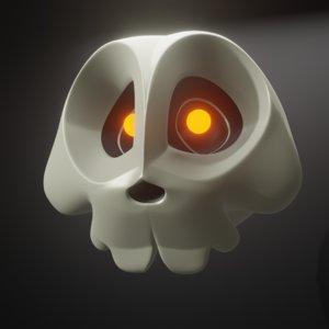 3D cartoon skull blender