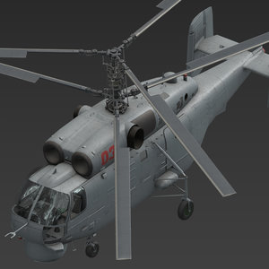 3D helicopter chopper ship