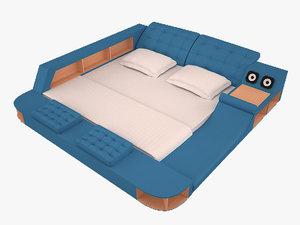 3D bed bedroom massage