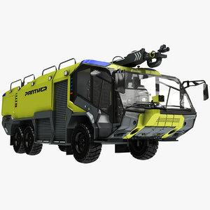 3D rosenbauer panther 6x6 truck model