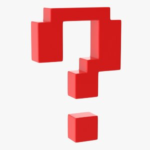 3D question mark model