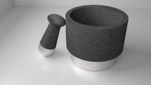 stone ceramic mortar pestle model