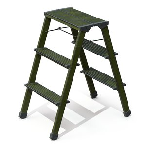 ladder step pbr 3D model