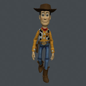 3D rigged woody toy