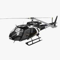 3D model helicopter as-350 anaheim police