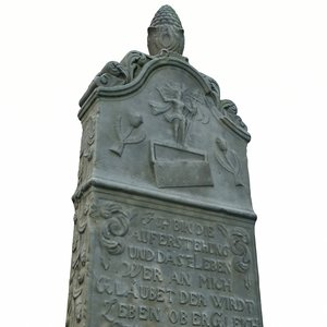 gravestone tombstone grave 3D model