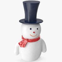 3D model snowman hat
