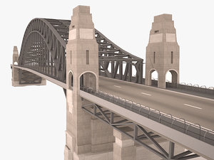 3D model sydney harbour bridge structure
