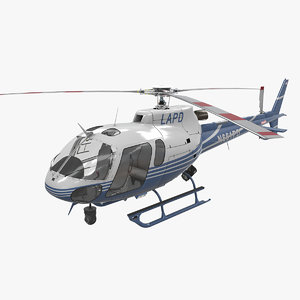 3D helicopter as-350 2 lapd model