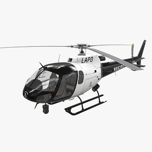helicopter as-350 lapd 3D