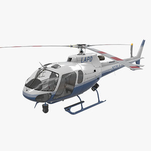 3D helicopter as-350 3