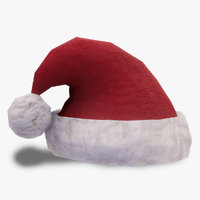 Low-Poly Santa Hat