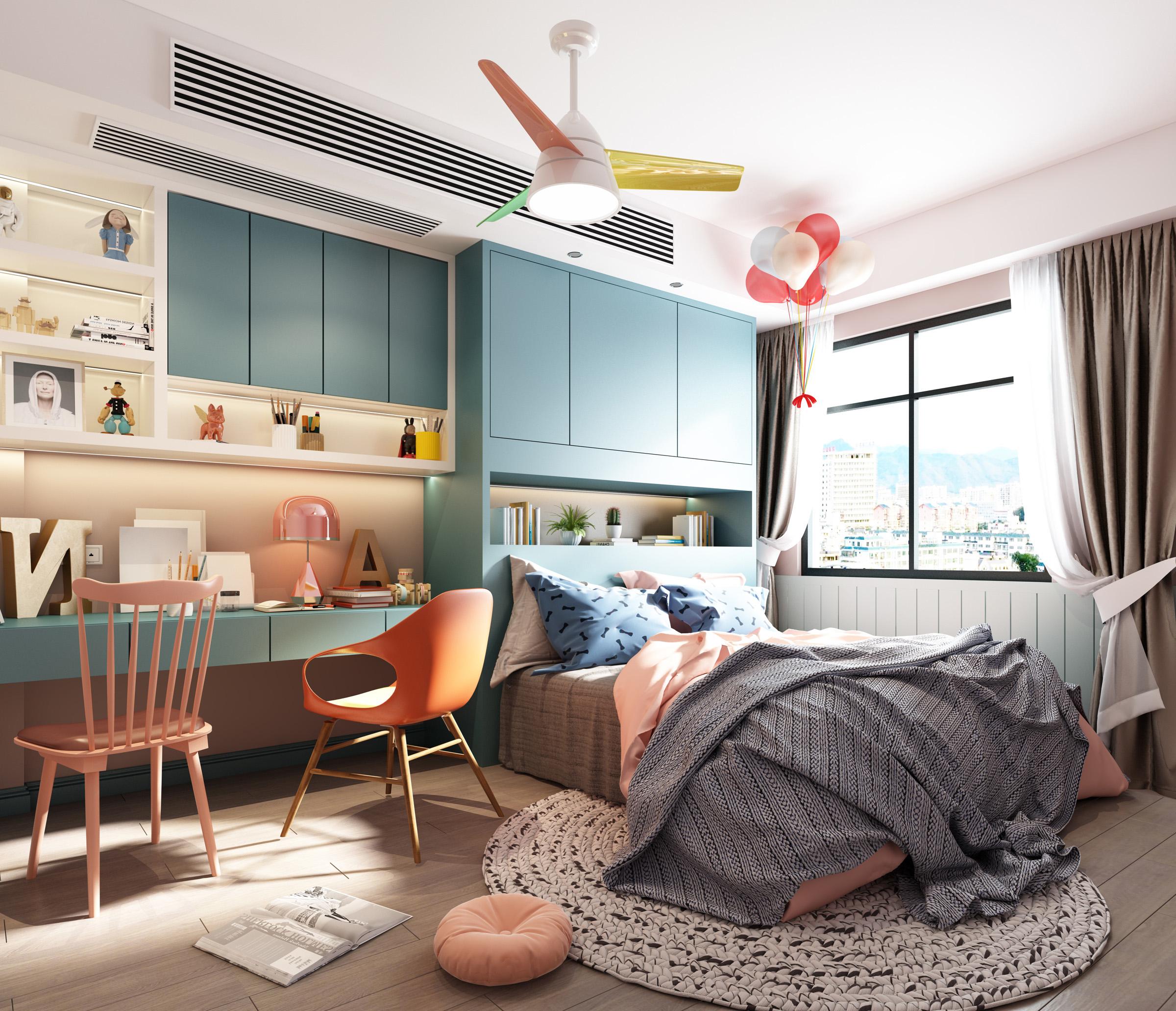 Modern children\'s bedroom