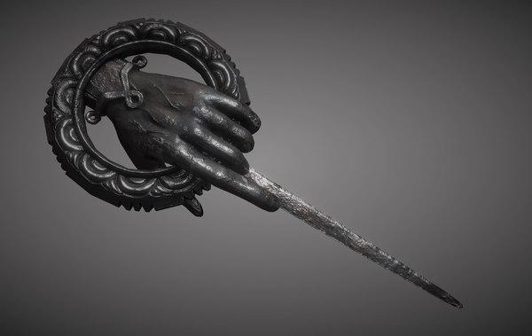 3D hand queen pin thrones model