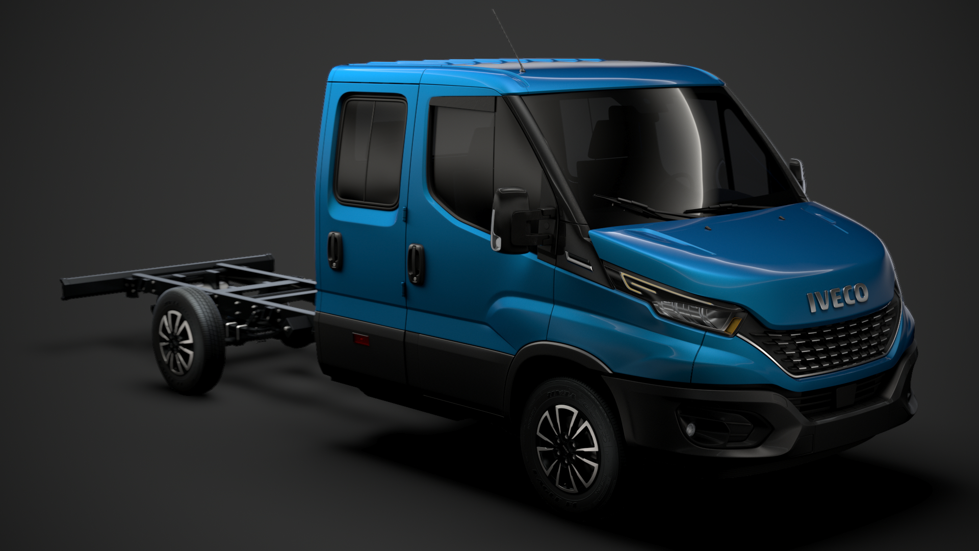 3D model iveco daily crew cab