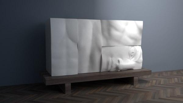 cabinet antique 3D model